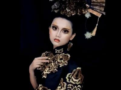 珠海导航化妆培训班创意造型妆面展示