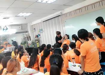 导航化妆培训班课堂
