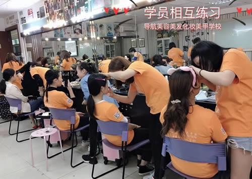 化妆班学员妆面练习