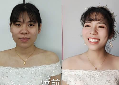 化妆培训班新娘妆作品