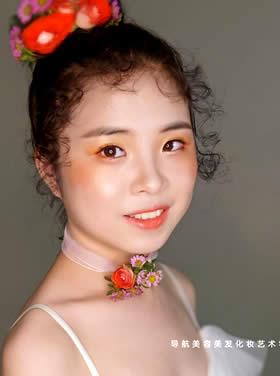 日系风森系新娘造型