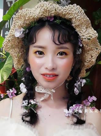 春天妆容造型
