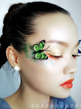 蝶变之美创意造型图片