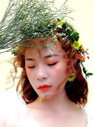 日系新娘造型,鲜花新娘,森系新娘