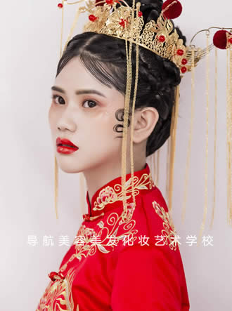 中式新娘造型妆面