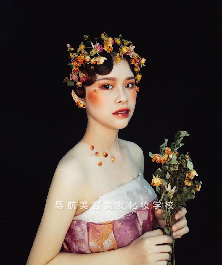 鲜花新娘造型妆面