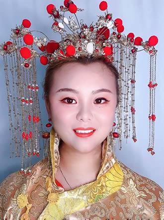 中式新娘造型妆面图片